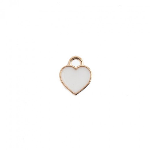 15x 16 mm Rose Gold Framed Heart with 'Love', pack of 8 pcs