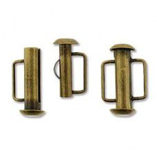 16.5mm Slide Bar Clasp, Antique Brass Plated