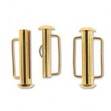 21.5mm Slide Bar Clasp, Gold Plated