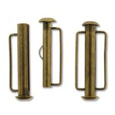 26.5mm Slide Bar Clasp, Antique Brass Plated