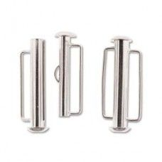 26.5mm Slide Bar Clasp, Silver Plated