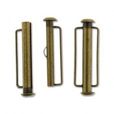 31.5mm Slide Bar Clasp, Antique Brass Plated