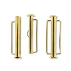 31.5mm Slide Bar Clasp, Gold Plated