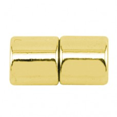 4mm Magentic Tube Clasps, Gold, Pack of 3