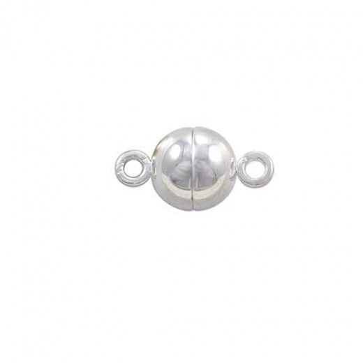 6mm Stainless Magnetic Ball Clasp with Loop