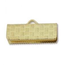 19mm Gold Plated flat crimp end, pack of 6pcs