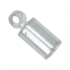 Bulk Bag of 144 304B-002 Heavy Cord Ends, I.D 1.8mm, Silver Plated