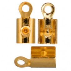 Feather Crimp Ends, 7 x 3mm, Gold, Pack of 100