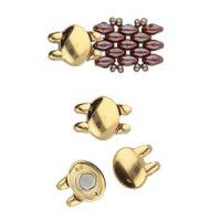 Superduo Beads Magnetic Clasp - Kypri from the Cymbal range, 24Kt Gold Plated