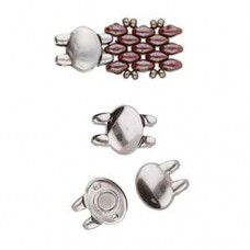 Superduo Beads Magnetic Clasp - Kypri from the Cymbal range, Silver Plated