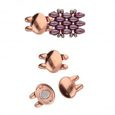 Superduo Beads Magnetic Clasp - Kypri from the Cymbal range, Rose Gold Plated