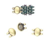 Superduo Beads Magnetic Clasp - Kypri from the Cymbal range, Atique Brass