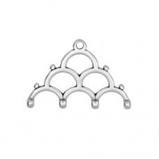 Lakos IV Chandelier Ending for 8/0 Beads - Antique Silver Plate