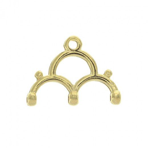 Lakos III Chandelier Ending for 8/0 Beads - 24K Gold Plate