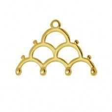 Lakos IV Chandelier Ending for 8/0 Beads - 24K Gold Plate