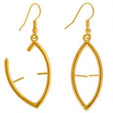 Marquis Interchangeable Earrings, Gold, 1 Pair