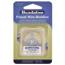 Beadalon French Wire / Gimp, X-Heavy, 0.9mm, Gold