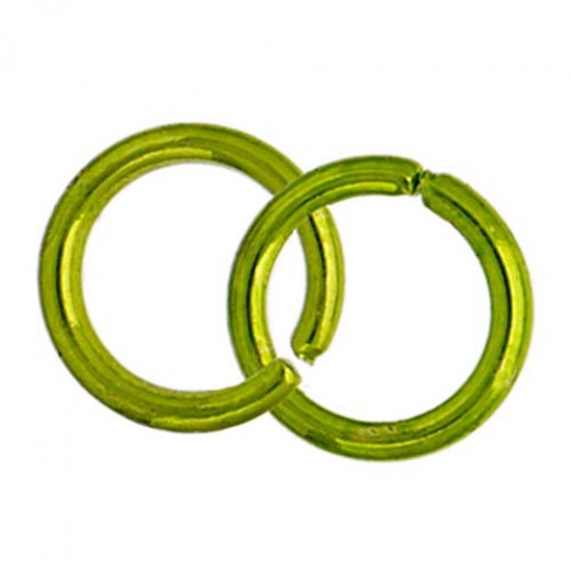 6.5mm Neo Jump Rings, Lime Green, Pack of Approx 60