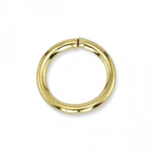 Beadalon 4mm Gold Colour round jump rings,  144 Pack