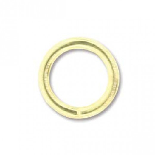 5mm Round 20ga Gold Plated Jump Rings, 144 Pieces
