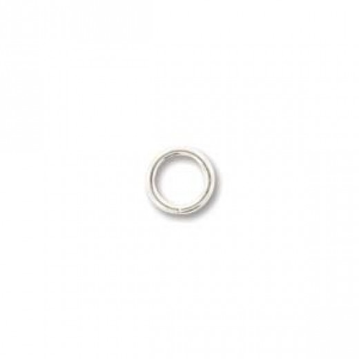 5mm Round 20ga, SIlver Plated Jump Rings, 144 Pieces