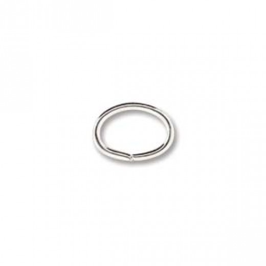 6 x 8 mm Oval Silver Plated Jump Rings, 144 Pieces wholesale pack