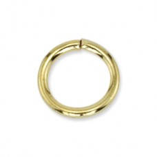 6mm  Jump Rings, Gold Plated, 144 Pieces