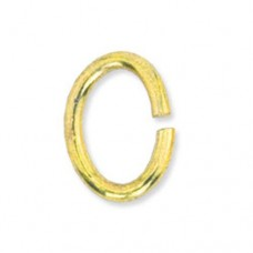 4.5 x 6mm Gold Beadalon Oval Jump Rings, Pack of 144