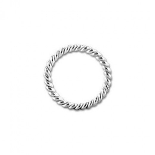 6mm Twisted Jump Rings, Silver, Pack of 144