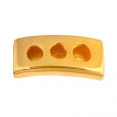 28mm Three Hole Slider Tube, Gold, 1 Pc