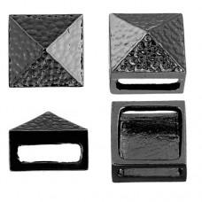 10 x 13mm Square Spike Slider, Gunmetal, 2 Pcs