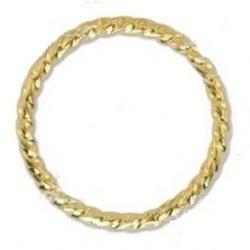 Beadalon 10mm Twisted Solid Rings 24 pcs Gold Plated