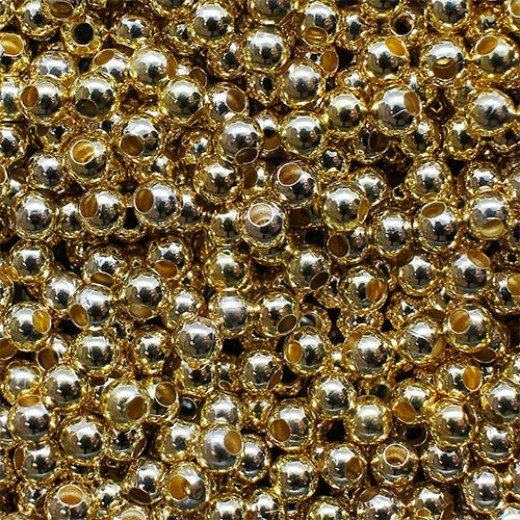 2 x 1mm Spacer Beads, Gold Colour, Pack of 500