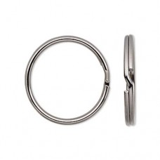 7mm Split Rings, Gunmetal, 100 Pack