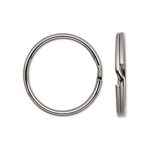 7mm Split Rings, Gunmetal, 100 Pack