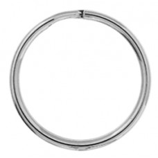 15mm Nickel Colour Split Rings, Pack of 10pcs