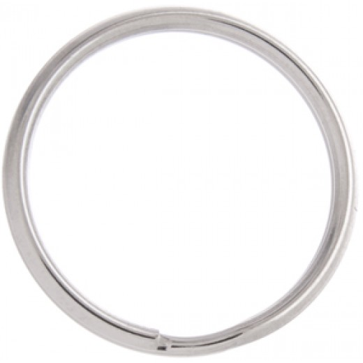 34mm Nickel Colour Split Rings, Pack of 10pcs