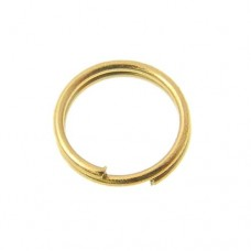 6mm Split Rings, Gold, 100 Pack