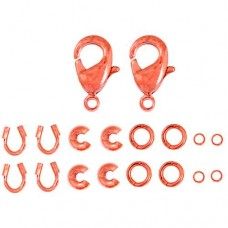 Finding Kit, 2 Sets, Copper, Lobster / Trigger Clasps 26002000-07
