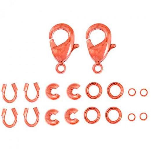 Finding Kit, 2 Sets, Copper, Lobster / Trigger Clasps 26002000-07
