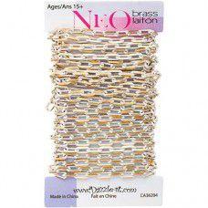 White Neo Cut Chain, 5 x 3mm Links, 2 Metre Length
