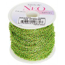 Neon Chain, Light Green, Pack of 2m  3.5 x 2mm links.