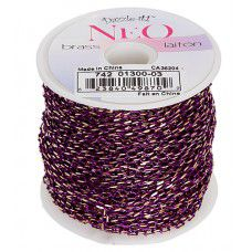 Neon Chain, Purple. Pack of 2m  3.5 x 2mm links.