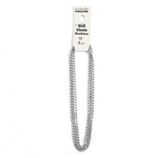 "ImpressArt Ball Chain Pendant, Pack of 2, Aluminium, 18"""