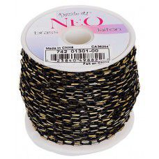 Neon Chain, Black. Pack of 2m  5 x3mm links.