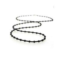 Black Rubber Ballchain, 20""