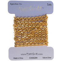 2 x 2.5mm Rolo Chain, Brass, 1 Metre Length