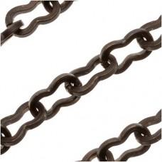 Kabela Brass Peanut Chain, Approx 1 Metre