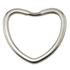 Beadalon  320W-018, Heart shaped Key Ring,  28 x 28 mm, Pack of 4,