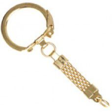 Gold colour Key chain with woven braid feature - pack of 5pcs